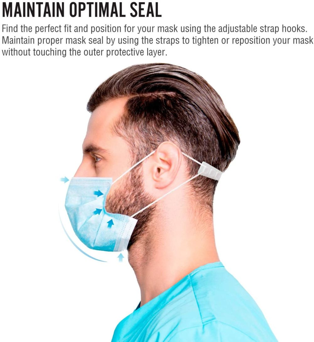Adjustable Ear Saver for Mask Comfort – Washable, Flexible & Reusable Tension Strap for Masks with Ear Loops 3