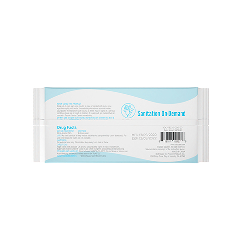 Full-Sized Sanitizing Hand Wipes | 75% Ethyl Alcohol, Moisture-Rich (Pack of 40) Image 2