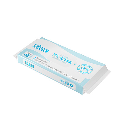 Full-Sized Sanitizing Hand Wipes | 75% Ethyl Alcohol, Moisture-Rich (Pack of 40) Image 3