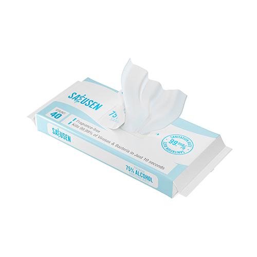 Full-Sized Sanitizing Hand Wipes | 75% Ethyl Alcohol, Moisture-Rich (Pack of 40) Image 5